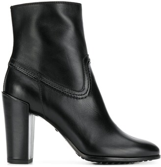 Tod's Stitching Detail Ankle Boots