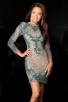 Scala 48645 Dress In Lead/Teal