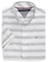 Tommy Hilfiger Stripe Short Sleeve Custom Fit Shirt