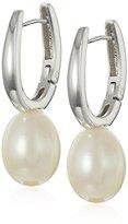 Bella Pearl Hinged Post Silver Pearl Drop Earrings