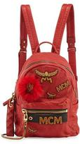 MCM Stark Small Leather Insignia Backpack