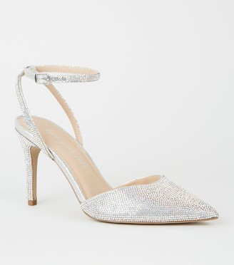 New Look Diamante Embellished Court Shoes