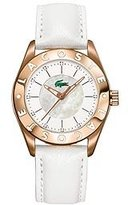 Lacoste Women's Biarritz Leather Watch 2000534 White Watch