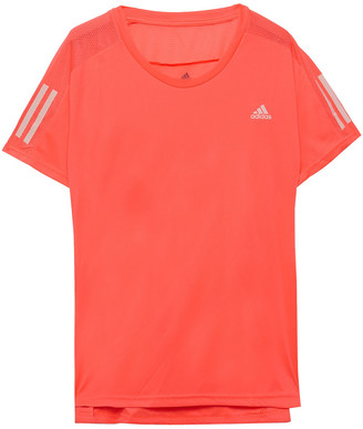 adidas Mesh-trimmed Printed Stretch T-shirt