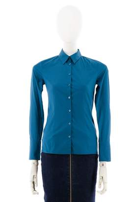 HUGO BOSS Turquoise Cotton Tops