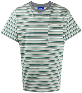Paccbet striped front pocket T-shirt
