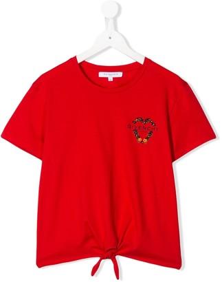 Givenchy Kids short sleeve knot detail T-shirt