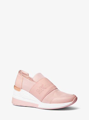 Michael Kors Felix Canvas And Leather Trainer