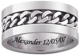 Men's Engraveable Stainless Steel Curb Link Band