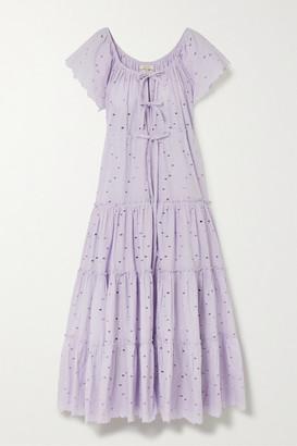 Innika Choo Alotta Gud Tiered Broderie Anglaise Cotton Maxi Dress