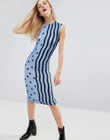 House of Holland Squiggle Jersey Midi Dress