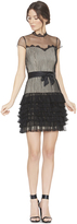 Alice + Olivia Dumont Ruffle Skirt Dress