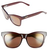 Maui Jim Women's Sweet Leilani 53Mm Polarizedplus2 Cat Eye Sunglasses - Brown Aquamarine/ Neutral Gray