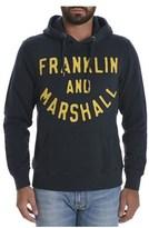 Franklin & Marshall Men's Blue/yellow Cotton Sweatshirt.
