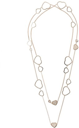 Chopard 18kt rose gold Happy Hearts diamond sautoir necklace