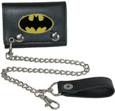 Bioworld Mens DC Comics Batman Trifold Chain Wallet, Black