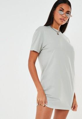 Missguided Petite Pastel Blue Basic T Shirt Dress