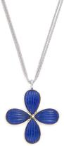 Elizabeth Showers Women's 18K Yellow Gold, Silver & Lapis Pearburst Pendant Necklace