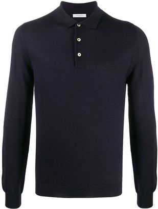 Boglioli Long-Sleeved Knitted Polo Shirt