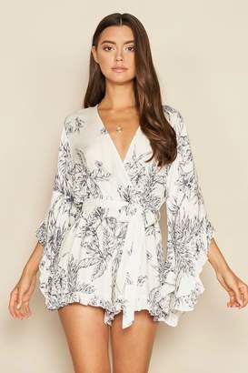 Dress Forum Floral Wrap Kimono Romper