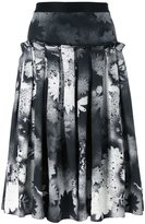 Christopher Kane sprayed floral print skirt