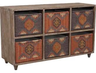 """Stein World 52.5"""" Wide 6 Drawer Mango Wood Sideboard"""