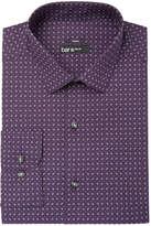 Bar III Men's Slim-Fit Stretch Easy-Care Purple Pine Print Dress Shirt, Created for Macy's