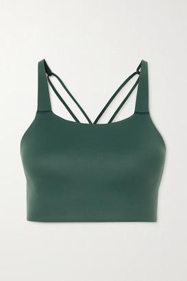 Nike Swoosh Luxe Dri-fit Sports Bra - Dark green