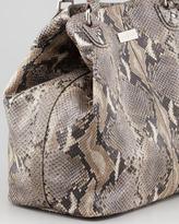 Cole Haan Village Convertible Snake-Print Tote Bag, Natural
