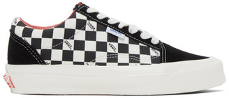 Vans Black and Off-White Checkerboard NS OG Old Skool LX Sneakers