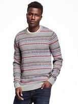 Old Navy Fair Isle Crew-Neck Sweater for Men