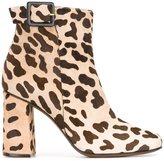 L'Autre Chose leopard print ankle boots - women - Leather/Pony Fur - 37