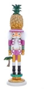 Kurt Adler 19.5-Inch Hollywood Pineapple Hat Nutcracker