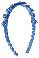 Cat & Jack Toddler Girls' Dotted Bow Headband Cat & Jack - Blue