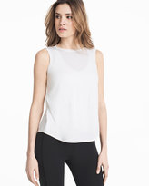 White House Black Market Open Cross-Back Tank Top