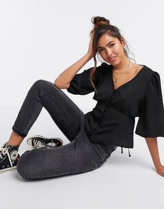 New Look tea blouse in black