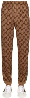 Gucci GG INTERLOCK COTTON JERSEY TRACK PANTS