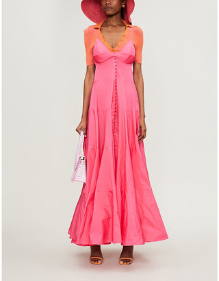 Jacquemus La Robe Manosque woven maxi dress