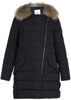 Moncler Metrodora fur-trimmed quilted down coat