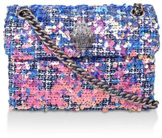 Kurt Geiger Womens London Pink Tweed Mini Kensington X Fabric Bag - Pink