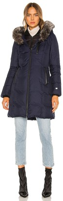 Soia & Kyo Christy Puffer Jacket With Fur Trim