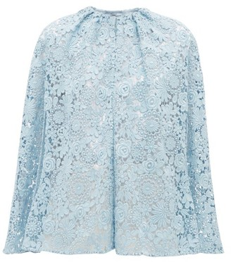 Prada Cotton-blend Guipure-lace Cape - Womens - Blue