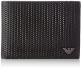 Armani Jeans Men's Textured Embossed Bifold Wallet