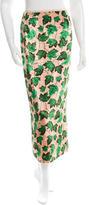 Dolce & Gabbana Velvet Leaf Print Skirt