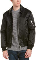 Burberry Point Collar Wool & Cashmere-Lined Bomber Jacket