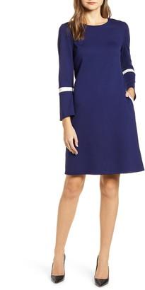 Anne Klein Bell Cuff Long Sleeve Dress