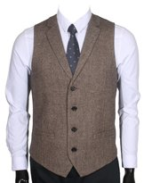 Ruth&Boaz 2Pockets 4Buttons Woo Herringbone/Tweed Taiored Coar Suit Vest