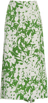 Rosie Assoulin Party In The Back Patterned Silk Skirt