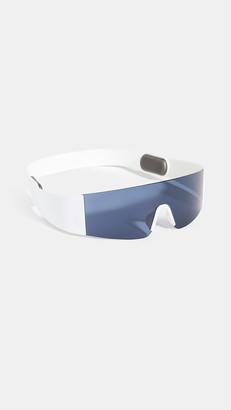 Womens White Shield Sunglasses ShopStyle