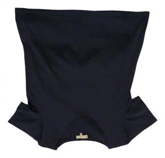 Hobbs Navy Cotton Top for Women